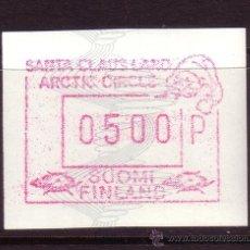 Sellos: FINLANDIA DISTRIBUIDOR 7*** - AÑO 1989 - VALOR 500 - EL PAÍS DE PAPÁ NOEL. Lote 19539809