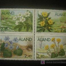Sellos: ALAND 1997 IVERT 123/6 *** FLORES DE PRIMAVERA - FLORA. Lote 21382923