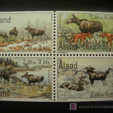 Sellos: ALAND 2000 IVERT 171/4 *** FAUNA - ALCES. Lote 20108007