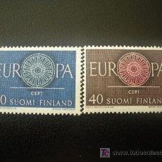 Sellos: FINLANDIA 1960 IVERT 501/2 *** EUROPA. Lote 20367438