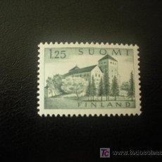 Sellos: FINLANDIA 1961 IVERT 509 *** SERIE BÁSICA - CASTILLO DE TURKU - MONUMENTOS. Lote 20367462