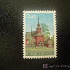 Sellos: FINLANDIA 1970 IVERT 637 *** ANTIGUA IGLESIA EN MADERA DE KEURU - MONUMENTOS. Lote 20367762