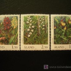Sellos: ALAND 1989 IVERT 33/5 *** FLORA - ORQUIDEAS. Lote 22313919