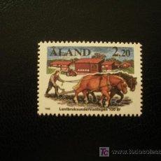 Sellos: ALAND 1988 IVERT 27 *** CENTENARIO DE LA EDUCACIÓN AGRICOLA - AGRICULTURA. Lote 21129981