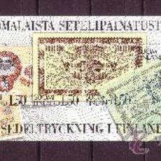 Sellos: FINLANDIA CARNET 924*** - AÑO 1985 - CENTENARIO DE LA IMPRESION DE PAPEL MONEDA . Lote 21422961