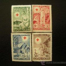 Sellos: FINLANDIA 1949 IVERT 345/8 *** EN BENEFICIO DE LA CRUZ ROJA - SAUNAS. Lote 21965762