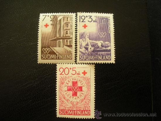 FINLANDIA 1951 IVERT 375/7 *** EN BENEFICIO DE LA CRUZ ROJA - DONACIÓN DE SANGRE (Sellos - Extranjero - Europa - Finlandia)