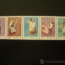 Sellos: FINLANDIA 1973 IVERT 697/701 *** TRAJES TIPICOS - FOLCLORE. Lote 21965980