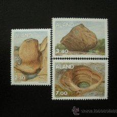 Sellos: ALAND 1995 IVERT 92/4 *** FORMACIONES ROCOSAS DE LA ERA GLACIAL - GEOLOGÍA. Lote 22189514