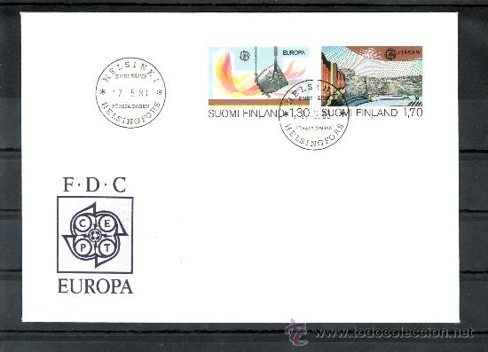 FINLANDIA 890/1 PRIMER DIA, TEMA EUROPA, GRANDES OBRAS DE LA HUMANIDAD, (Sellos - Extranjero - Europa - Finlandia)