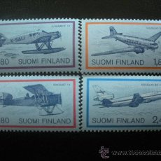 Sellos: FINLANDIA 1988 IVERT 1017/20 *** EXPOSICIÓN FILATÉLICA MUNDIAL HELSINKI - CORREO AEREO - AVIONES. Lote 22569735