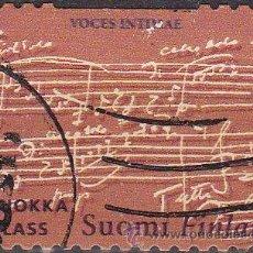 Sellos: FINLANDIA 2004 SCOTT 1205C SELLO JEAN SIBELIUS COMPOSITOR VOCES INTIMAS USADO MICHEL 1682 SUOMI FINL. Lote 15152174