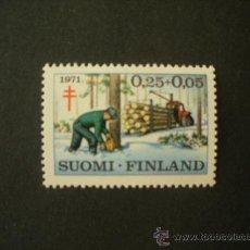 Sellos: FINLANDIA 1971 IVERT 651/3 *** PRO LUCHA ANTITUBERCULOSIS. Lote 27539552