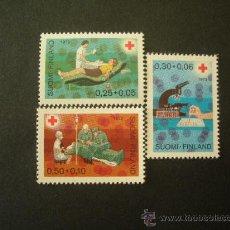 Sellos: FINLANDIA 1972 IVERT 671/3 *** PRO CRUZ ROJA - NEDICINA. Lote 27540038