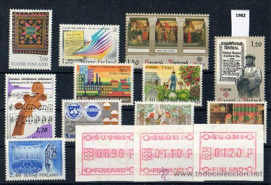 FINLANDIA AÑO 1982 YV*** LOTE DE 10 SERIES COMPLETAS (INCLUYE ATM'S) EUROPA - NIÑOS - MÚSICA - ARTE (Sellos - Extranjero - Europa - Finlandia)