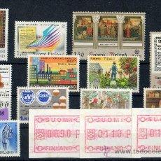 Sellos: FINLANDIA AÑO 1982 YV*** LOTE DE 10 SERIES COMPLETAS (INCLUYE ATM'S) EUROPA - NIÑOS - MÚSICA - ARTE. Lote 28853423