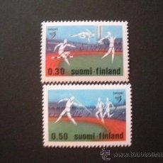 Sellos: FINLANDIA 1971 IVERT 659/60 *** CAMPEONATO DE EUROPA DE ATLETISMO EN HEKSINKI - DEPORTES. Lote 29454286