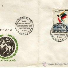 Sellos: SOBRE Y SELLO MATASELLADO SUOMI FINLAND HELSINKI 1975. Lote 30405469