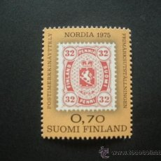 Sellos: FINLANDIA 1975 IVERT 727 *** EXPOSICIÓN FILATÉLICA NORDICA EN HELSINKI - NORDIA-75. Lote 30420752