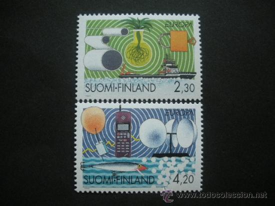 FINLANDIA 1994 IVERT 1214/5 *** EUROPA - LOS DESCUBRIMIENTOS (Sellos - Extranjero - Europa - Finlandia)