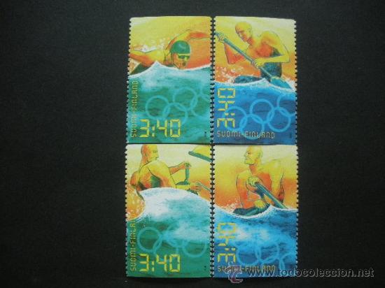 FINLANDIA 1996 IVERT 1313/6 *** CENTENARIO JUEGOS OLIMPICOS MODERNOS Y JUEGOS DE ATLANTA- DEPORTES (Sellos - Extranjero - Europa - Finlandia)