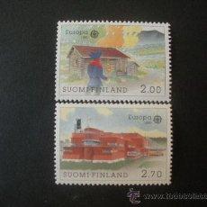 Sellos: FINLANDIA 1990 IVERT 1074/5 *** EUROPA - EDFICIOS DE CORREOS - ARQUITECTURA. Lote 32133267