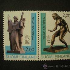 Sellos: FINLANDIA 1994 IVERT 1209A *** CENTENARIO NACIMIENTO ESCULTOR WAINO AALTONEN . Lote 33421948