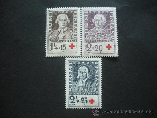 FINLANDIA 1935 IVERT 180/2 *** PRO CRUZ ROJA - ESTUDIOSOS - PERSONAJES (Sellos - Extranjero - Europa - Finlandia)