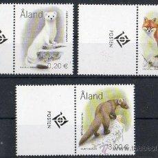 Sellos: ALAND AÑO 2004 YV 229/31*** FAUNA - MAMÍFEROS - NATURALEZA. Lote 35224602