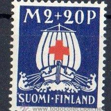 Sellos: FINLANDIA AÑO 1930 YV 159*** PRO CRUZ ROJA - BARCOS - TRANSPORTES. Lote 35320186