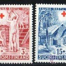 Sellos: FINLANDIA AÑO 1949 YV 345/48*** PRO CRUZ ROJA - SAUNA - SALUD. Lote 35320399