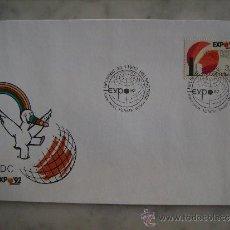 Sellos: FDC FINLANDIA 1992-FINLAND,EXPO 92. Lote 35604802