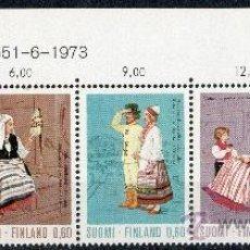 Sellos: FINLANDIA AÑO 1973 YV 697/01*** BÁSICA - TRADICIONES Y COSTUMBRES (II) TRAJES REGIONALES - FOLKLORE. Lote 35607427
