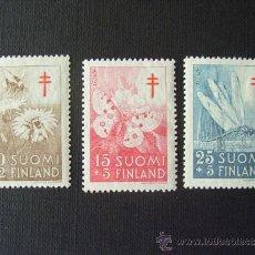 Sellos: FINLANDIA Nº YVERT 417/9*** AÑO 1954. PRO TUBERCULOSOS. INSECTOS. Lote 36838128