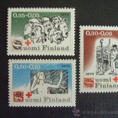 Sellos: FINLANDIA Nº YVERT 638/0** AÑO 1970. PRO CRUZ ROJA. SERIE CON CHARNELA. Lote 37226721