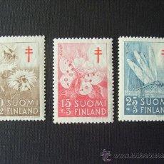 Sellos: FINLANDIA Nº YVERT 417/9** AÑO 1945. PRO TUBERCULOSOS. INSECTOS. SERIE CON CHARNELA. Lote 37758164