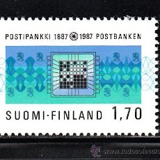Sellos: FINLANDIA 973** - AÑO 1987 - CENTENARIO DE LA CAJA POSTAL DE AHORROS. Lote 39181628