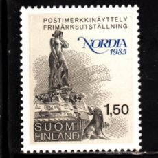 Sellos: FINLANDIA 923** - AÑO 1985 - EXPOSICION FILATELICA NORDICA NORDIA 85. Lote 39196847