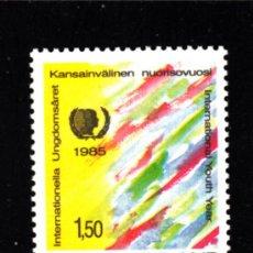 Sellos: FINLANDIA 941** - AÑO 1985 - AÑO INTERNACIONAL DE LA JUVENTUD. Lote 39212647