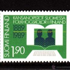 Sellos: FINLANDIA 1061** - AÑO 1989 - CENTENARIO DE LAS ESCUELAS SUPERIORES POPULARES. Lote 39304145
