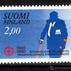 Sellos: FINLANDIA 1071** - AÑO 1990 - 50º ANIVERSARIO DE LA ASOCIACIÓN DE INVÁLIDOS DE GUERRA. Lote 39304153