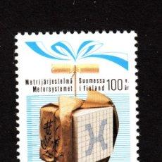 Sellos: FINLANDIA 976** - AÑO 1987 - CENTENARIO DE LA ADOPCIÓN DEL SISTEMA MÉTRICO. Lote 39336300