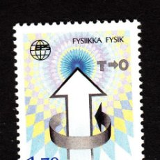 Sellos: FINLANDIA 992** - AÑO 1987 - CONFERENCIA DE LA SOCIEDAD EUROPEA DE FÍSICA. Lote 39336304