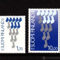 Sellos: FINLANDIA 993/94** - AÑO 1987 - 70º ANIVERSARIO DE LA INDEPENDENCIA FINLANDESA. Lote 39362919