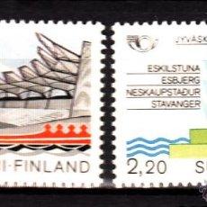 Sellos: FINLANDIA 960/61** - AÑO 1986 - NORDEN 86 - CIUDADES HERMANADAS. Lote 39412299