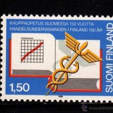 Sellos: FINLANDIA 1055** - AÑO 1989 - 150º ANIVERSARIO DE LA ENSEÑANZA COMERCIAL EN FINLANDIA. Lote 39412315