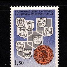 Sellos: FINLANDIA 935** - AÑO 1985 - 350º ANIVERSARIO DE LA ADMINISTRACION PROVINCIAL. Lote 39442553