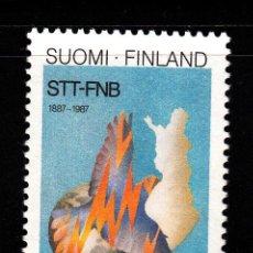 Sellos: FINLANDIA 998** - AÑO 1987 - CENTENARIO DE LA AGENCIA FINLANDESA DE PRENSA STT-FNB. Lote 39442611