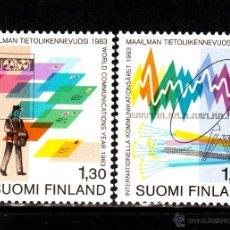 Sellos: FINLANDIA 888/89** - AÑO 1983 - AÑO MUNDIAL DE LAS COMUNICACIONES. Lote 39467577