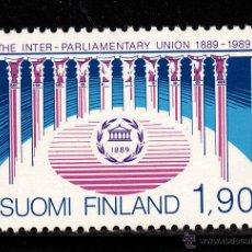 Sellos: FINLANDIA 1056** - AÑO 1989 - CENTENARIO DE LA UNION INTERPARLAMENTARIA. Lote 39619181
